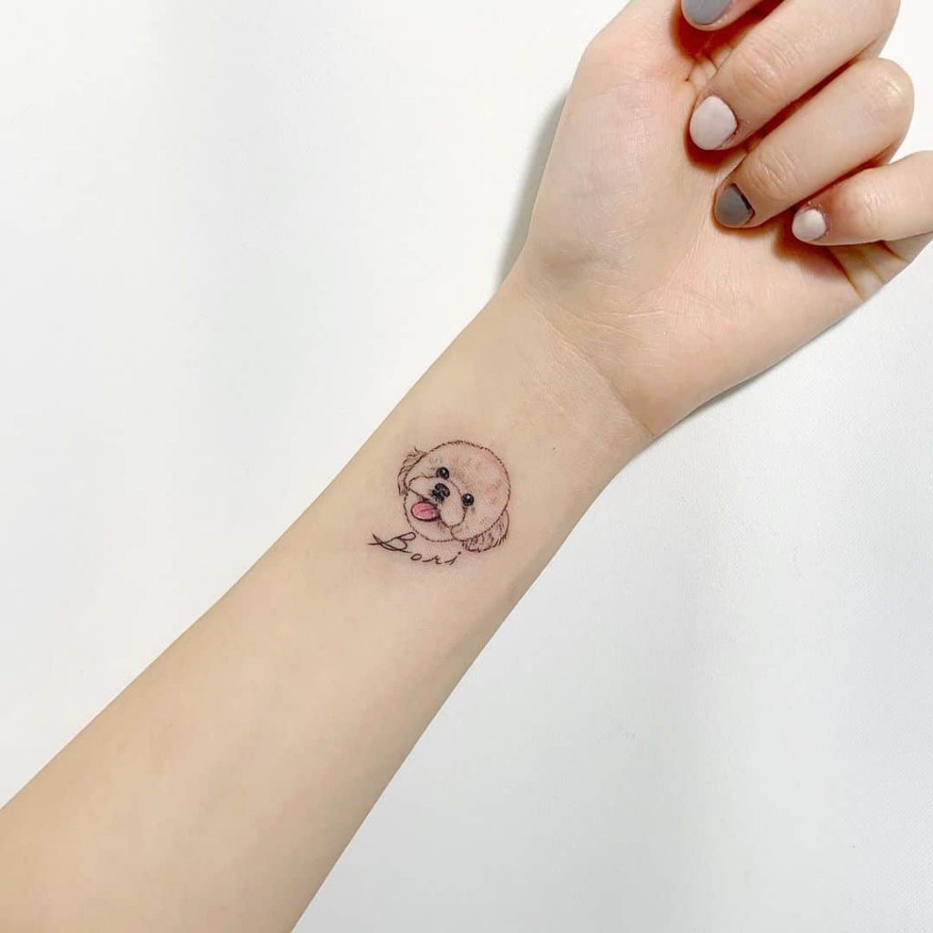 Forearm Small Tattoos For Ladies And Dog Lovers