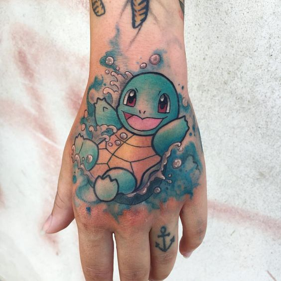 Generation 1 - Beautiful Squirtle Tattoo
