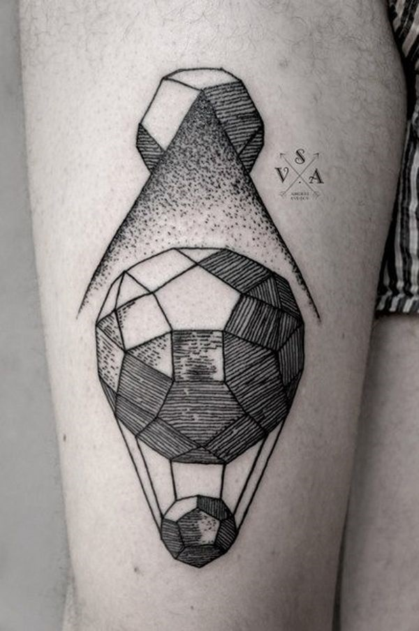 Multi-Faceted Polygon Tattoo