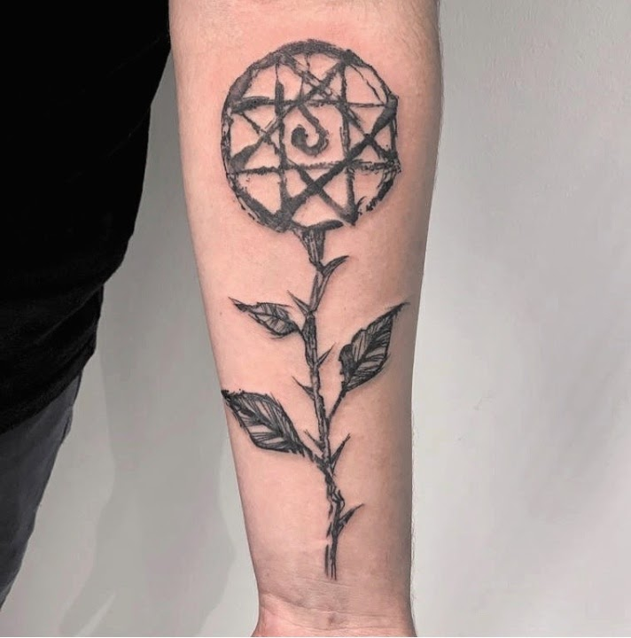 Mystical flower with the Blood Seal Tattoo