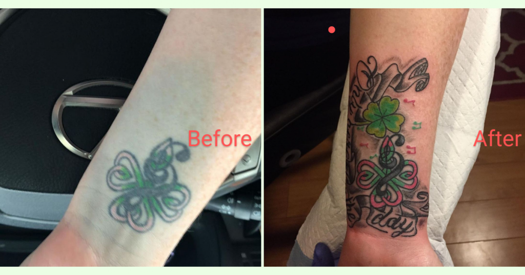 tattoo blowout before and after